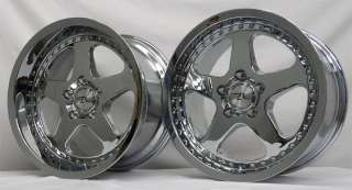 Chrome Motorsport Mustang SC Wheels 17x9 & 17x10 Dish, 17 inch Rims