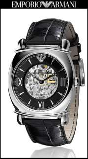 Latest Emporio Armani Men Meccanico Skeleton Watch AR4633 Sale