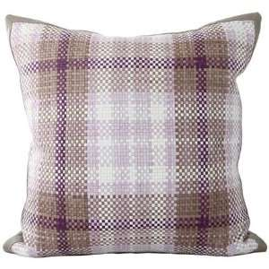 Lance Wovens British Invasion Dusty Concord Leather Pillow