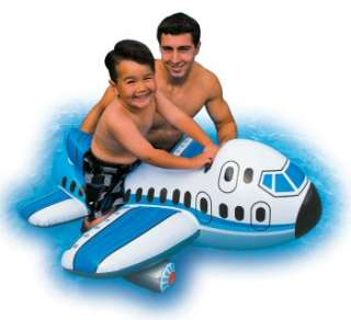 Megastore 247   INTEX JUMBO JET PLANE WAVE RIDE ON INFLATABLE POOL TOY