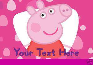 Personalised PEPPA PIG Place Mat / Door Sign **