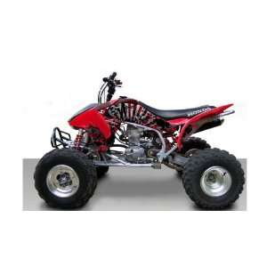 Honda TRX450R Grunge ATV Graphic Kit (Red) (2004 2012