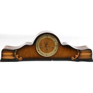German Art Deco Westminster Mantle Clock Walnut