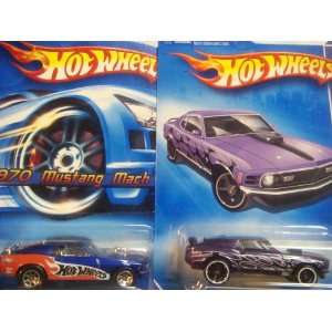 Hot Wheels 1970 Mustang Mach 1 Variant Set Racing Series