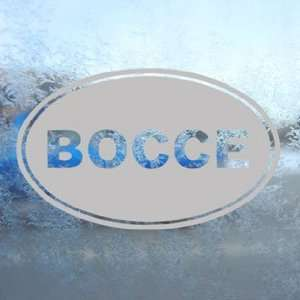 Bocce Gray Decal Car Truck Bumper Window Vinyl Gray