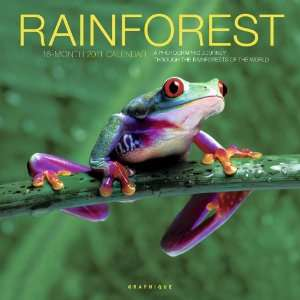 2011 Animal Calendars Rainforest   16 Month   30x30cm
