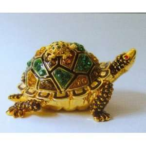 Sea Turtle With Baby Jewelry Box