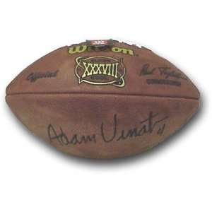 Vinatieri Autographed Super Bowl XXXVIII Football