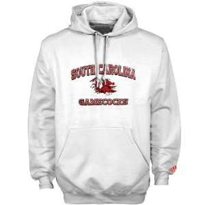 adidas South Carolina Gamecocks White Stacked Hoody Sweatshirt