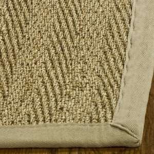 Natural and Beige Seagrass Area Rug, 5 Feet by 8 Feet