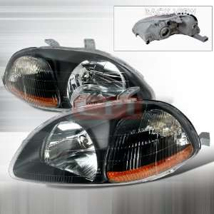 Honda Honda Civic Jdm Black Headlights/ Head Lamps Euro Style