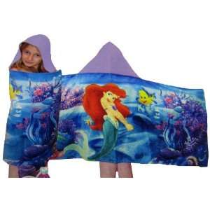 Disney Ariel Little Mermaid Hooded Bath Towel Baby