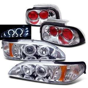 Ford Mustang Twin Halo LED Projector Head+Tail Lights Brand New Set