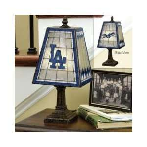 LOS ANGELES DODGERS Team Logo Hand Painted ART GLASS TABLE LAMP (14