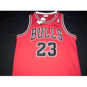 Mitchell and Ness Michael Jordan Red Chicago Bulls Jersey Size 52