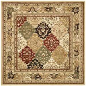 Collection LNH221C Square Area Rug, 8 Feet, Multicolor