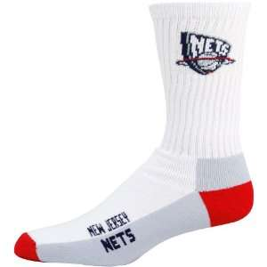 NBA New Jersey Nets White Tri Color Team Logo Tall Socks