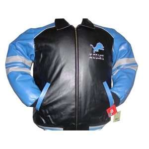 Detroit Lions NFL Logo Pleather Jacket Adult