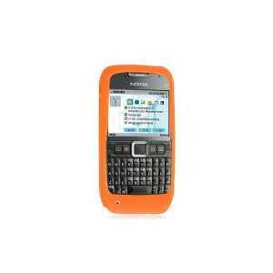 Premium Nokia E71 Silicone Skin Case Sleeve   Orange