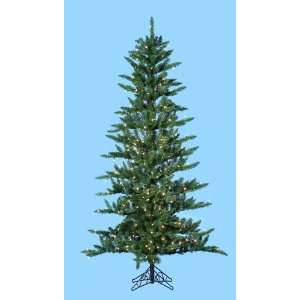 7 Pre Lit Slim Country Pine Artificial Christmas Tree