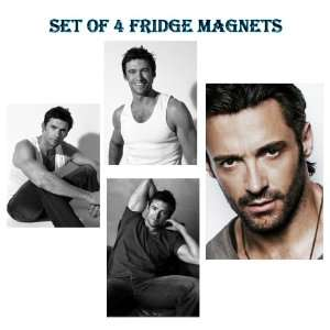 SET OF 4 HUGH JACKMAN REFRIGERATOR FRIDGE MAGNETS 001   X