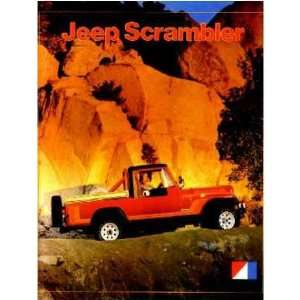 1981 JEEP SCRAMBLER Sales Brochure Literature Book