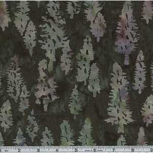 44 Wide Hand dyed Tonga Batik Pine Trees Forest Fabric