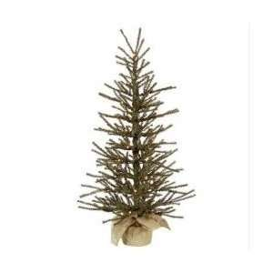 4 Pre Lit Vienna Twig Artificial Christmas Tree in Burlap