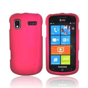 ROSE PINK For Samsung Focus Rubberized Hard Case Cover
