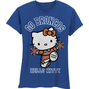 Broncos Hello Kitty Pom Pom Girls Crew Tee Shirt
