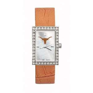Texas Longhorns Ladies NCAA Starlette Watch (Leather Band)