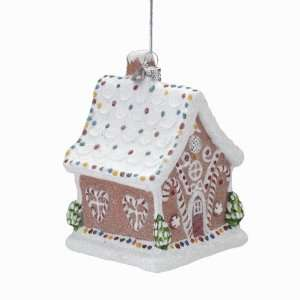 Inch Noble Gems Glass Gingerbread House Ornament
