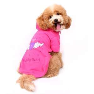 Happy Puppy Designer Dog Apparel   Angel Wing Hoodie   Color Pink