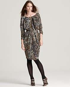 Anne Klein New York Printed Tucked Dress