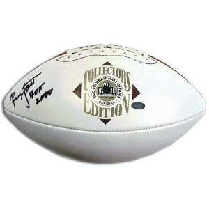 Ronnie Lott Autographed Hall of Fame White Panel Football