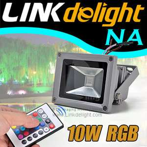 16 Single Colors RGB Waterproof LED SPOTLIGHT Flood Wash Light +Remote