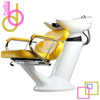 SHAMPOO BACKWASH UNIT BOWL CHAIR SINK SALON SPA EQUIPMENT VIRA WHITE