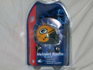 GREEN BAY PACKERS WISCONSIN HELMET RADIO NEW NFL FOOTBALL LISCENSED