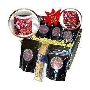 Wine Gold Pink White   Coffee Gift Baskets   Coffee Gift Basket