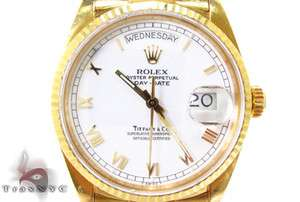 Mens Rolex Watch Day Date Yellow Gold 118238