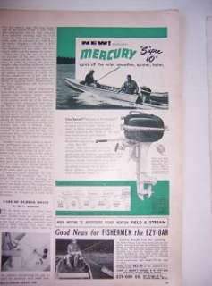 1949 Mercury Outboard Boat Motor Ad Jeweled Super 10 j