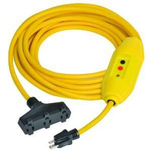 Length, 15 amp In Line GFCI And Triple Tap Cord Set With Auto Reset