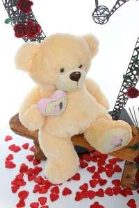 30 Valentines Day Love Delivery Large Cream Teddy Bear